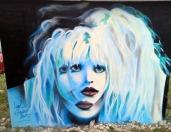 Edi Gustin: '' C. Love'', spray na zidu