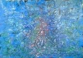 Boris Pecigoš: ''Mistični broj 6'', akril na papiru