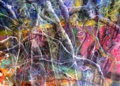 Morana Jugović: ''Jungle'', acrylic / ink on paper
