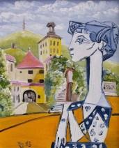 Juraj Jonke: ''Picasso u Zg (Dora Maar)'', ulje na platnu