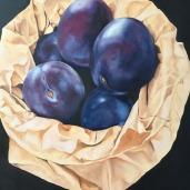 Sonja Šimatić, '' Šljive'', ulje na platnu, 70 x 80 cm