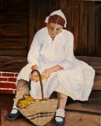 Anđelko Brkić, ''U mislima'', ulje na platnu, 50 x 40 cm
