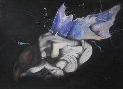Ivana Kolić, ''Rođenje Anđela'', 100 x 70 cm, 2017.
