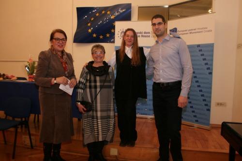 Sa otvorenja izložbe ''Susret generacija'' u Europskom domu Zagreb