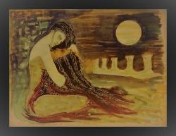 "Hrid Matić, ""Salome"", kombinirana tehnika, 50×70 cm"