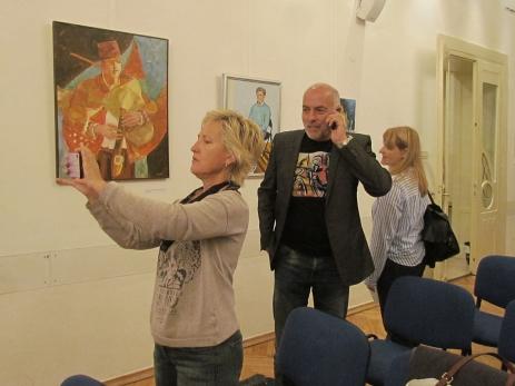 Sa izložbe ''Portret-autoportret'' u Europskom domu Zagreb, 2019.