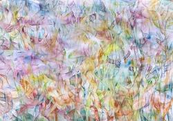 Morana Jugović, ''IQ'', akvarel na papiru, 70x100 cm