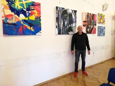 Mladen Žunjić, izložba ''Ekspresije i apstrakcije 2021 - Balans'', Europski dom Zagreb, 2021.